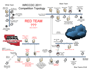 2011 WRCCDC Topology