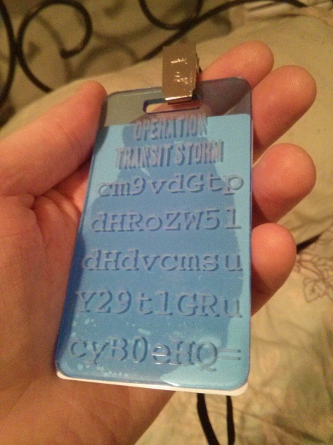 Blue Etched Badge