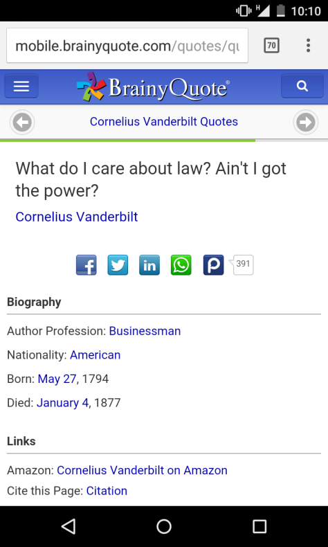 What do I care about law?